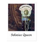 Reina del solsticio - collage postales