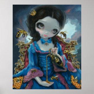 Reina del surrealismo rococó del estallido de la I Póster