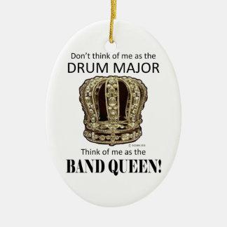 Reina del tambor mayor ornamentos de navidad