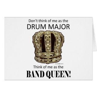 Reina del tambor mayor tarjeta de felicitación