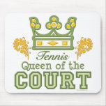 Reina del tenis de corte Mousepad Alfombrilla De Raton
