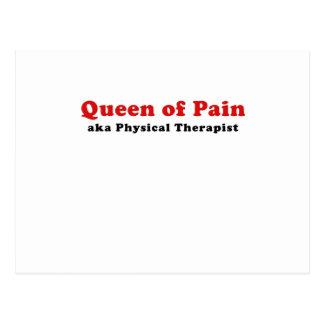 Reina del terapeuta físico del dolor aka postales
