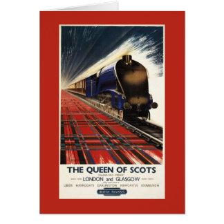 Reina del tren escocés del pullman tarjeta de felicitación