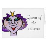 Reina del universo tarjeta de felicitación