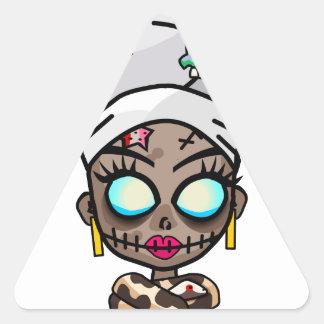 Reina del vudú pegatina de triangulo