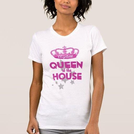 REINA divertida de la corona y de las estrellas V0 Camisetas