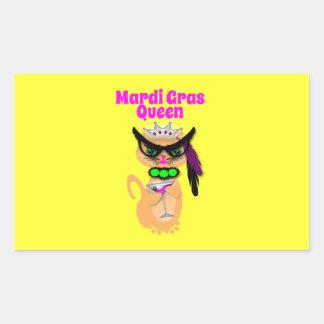Reina divertida del gato del gatito del carnaval pegatina