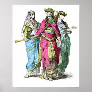 Reina egipcia antigua Cleopatra Póster