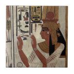 Reina egipcia antigua [Nefertari] Azulejo Ceramica