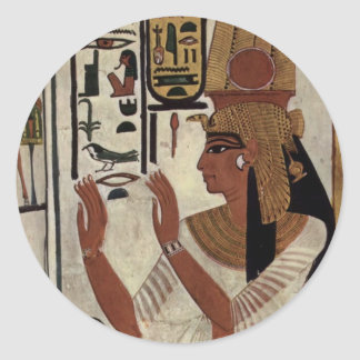 Reina egipcia antigua [Nefertari] Pegatina Redonda