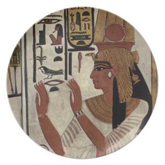 Reina egipcia antigua [Nefertari] Platos Para Fiestas