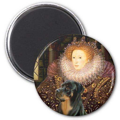 Reina Elizaabeth I - Rottweiler Imán Redondo 5 Cm