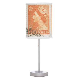 Reina Elizabeth Australia del sello del vintage Lámpara De Escritorio