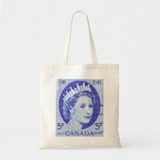 Reina Elizabeth Canadá del vintage Bolsa Lienzo