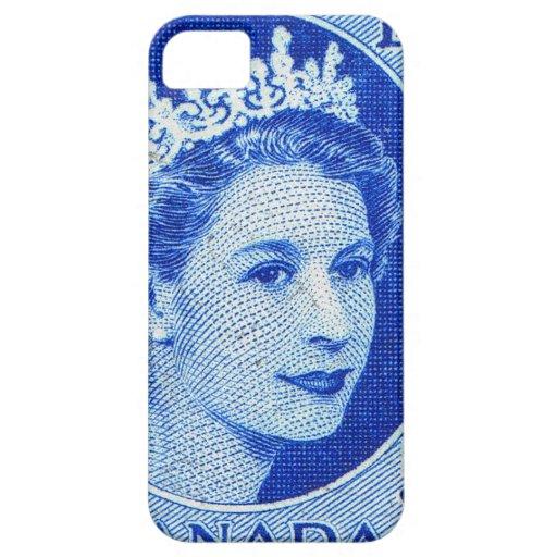 Reina Elizabeth Canadá del vintage iPhone 5 Case-Mate Protector