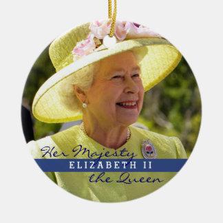 Reina Elizabeth de Inglaterra Adorno Navideño Redondo De Cerámica