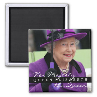 Reina Elizabeth de Inglaterra Imán Cuadrado