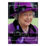 Reina Elizabeth de Inglaterra Tarjetón