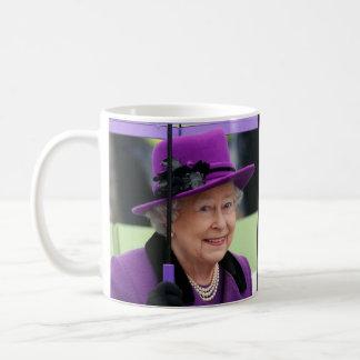 Reina Elizabeth de Inglaterra Taza Básica Blanca