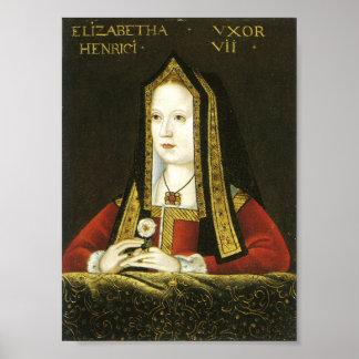 Reina Elizabeth de la impresión de York
