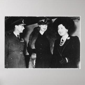 Reina Elizabeth de rey George VI de Eleanor Póster