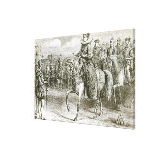 Reina Elizabeth en el tilburí Impresión En Lona
