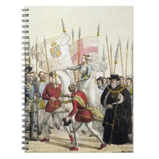 Reina Elizabeth I (1530-1603) que reúne a las trop Spiral Notebooks
