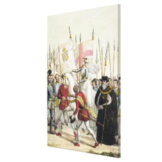Reina Elizabeth I (1530-1603) que reúne a las trop Impresion De Lienzo