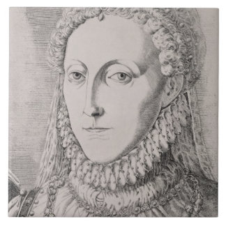 Reina Elizabeth I (1533-1603), c.1572-75 (engravin Azulejo Cuadrado Grande