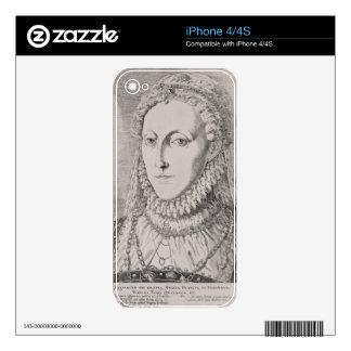 Reina Elizabeth I (1533-1603), c.1572-75 (engravin Calcomanías Para iPhone 4