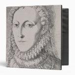 "Reina Elizabeth I (1533-1603), c.1572-75 (engravin Carpeta 1 1/2"""