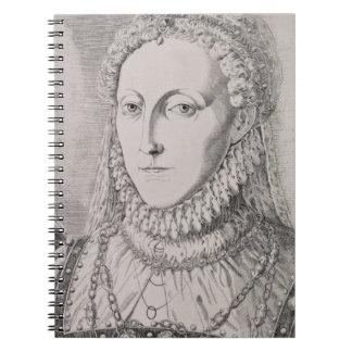 Reina Elizabeth I (1533-1603), c.1572-75 (engravin Libretas Espirales