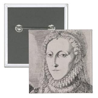 Reina Elizabeth I (1533-1603), c.1572-75 (engravin Pin Cuadrado