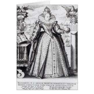 Reina Elizabeth I 1596 Tarjeta De Felicitación