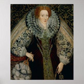 Reina Elizabeth I, c.1585-90 Póster