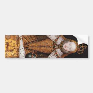 Reina Elizabeth I Etiqueta De Parachoque
