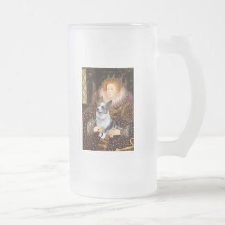 Reina Elizabeth I - Corgi de Merle Galés Taza De Cristal