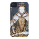 Reina Elizabeth I: Coronación Case-Mate iPhone 4 Protectores