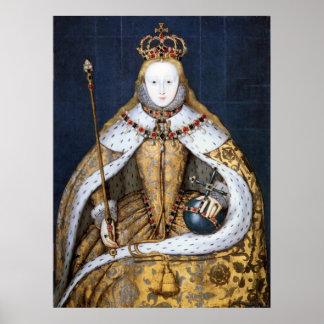 Reina Elizabeth I Coronación Posters
