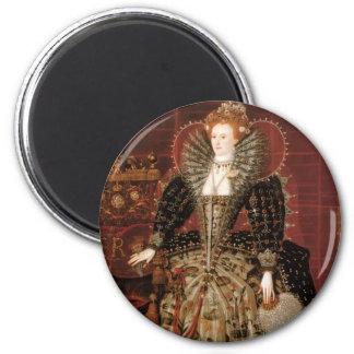 Reina Elizabeth I de Inglaterra Imán Redondo 5 Cm