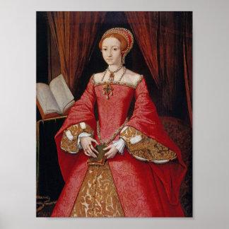 Reina Elizabeth I de la impresión de Inglaterra Póster