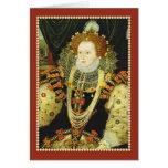 Reina Elizabeth I de las perlas que llevan de Tarjeta De Felicitación