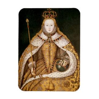 Reina Elizabeth I en trajes de la coronación Imanes Flexibles