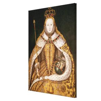 Reina Elizabeth I en trajes de la coronación Impresión En Lona Estirada