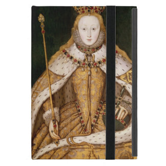 Reina Elizabeth I en trajes de la coronación iPad Mini Cárcasas