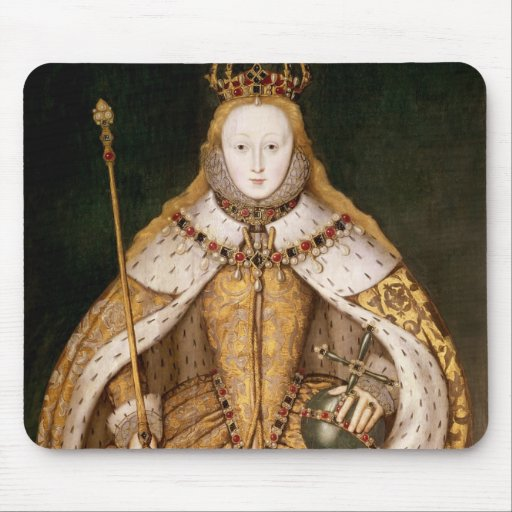 Reina Elizabeth I en trajes de la coronación Mouse Pad