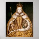 Reina Elizabeth I en trajes de la coronación Poster