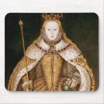 Reina Elizabeth I en trajes de la coronación Tapete De Ratones