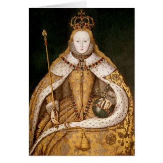 Reina Elizabeth I en trajes de la coronación Felicitacion