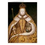 Reina Elizabeth I en trajes de la coronación Tarjeta De Felicitación